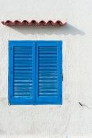 okiennica,-niebieski,-Grecja,-Rodos