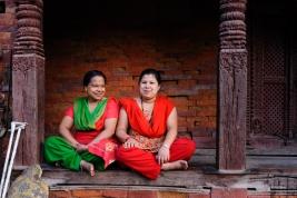 Nepal;-Katmandu;-dwie;-kobiety;-Nepalki
