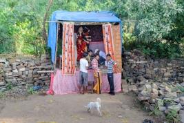 budowa;-oltarz;-Indie;-Khajuraho